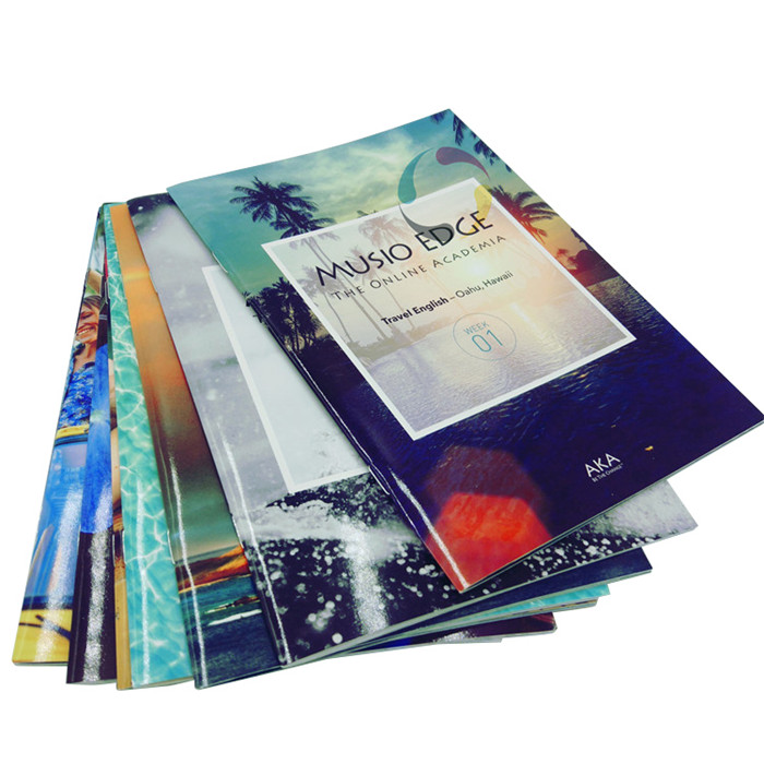 High quality saddle stitch binding book printing